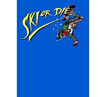 Oldies Ski or Die - Retro Pixel DOS game fan shirt Photographic Print