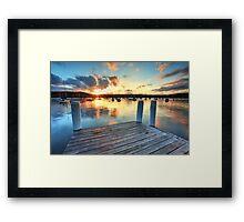 Sunset Point Frederick Wharf Gosford Framed Print