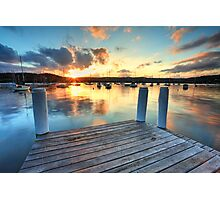 Sunset Point Frederick Wharf Gosford Photographic Print