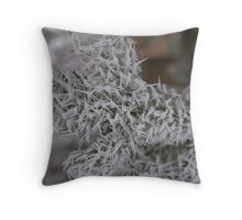 Long Icy Needles Throw Pillow