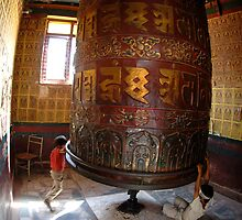 Spinning on the Prayer Wheel by Laurette Ruys