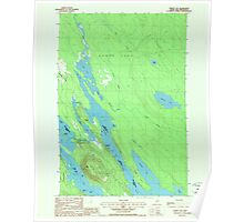 Maine USGS Historical Map Forest City 807923 1988 24000 Poster