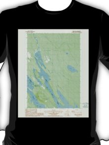 Maine USGS Historical Map Forest City 807923 1988 24000 T-Shirt