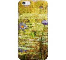 Textured Water Lilies iPhone Case/Skin