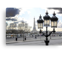 Parisian Mosaic - Piece 17 - Blue Day Canvas Print
