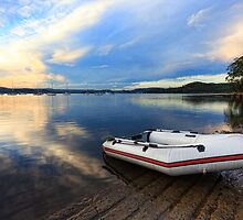 Boats at Saratoga late afternoon by Leah-Anne Thompson