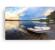 Boats at Saratoga late afternoon Metal Print