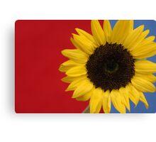 Primary Sunflower Canvas Print