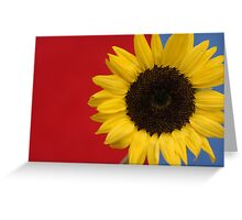 Primary Sunflower Greeting Card