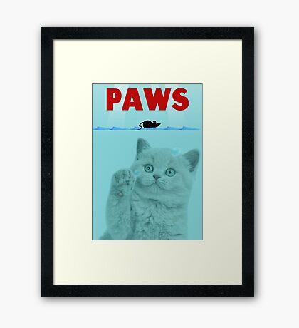 PAWS Parody Cat Attack Framed Print