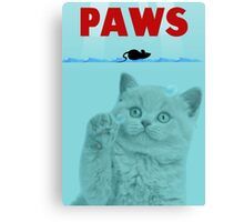 PAWS Parody Cat Attack Canvas Print