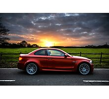 BMW 1 Series M Coupe Stormy Sunset Photographic Print