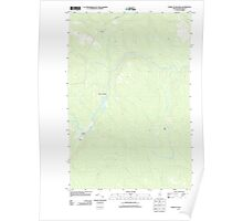 Maine USGS Historical Map Forks of Machias 20110907 TM Poster