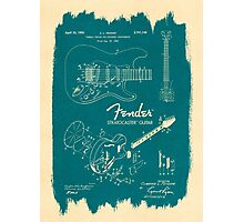 Fender Stratocaster Gibson Guitar Plans Photographic Print