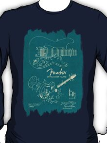 Fender Stratocaster Gibson Guitar Plans T-Shirt