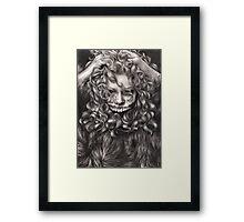 girl, invisible monsters Palahniuk, horror, face, dark, eyes Framed Print