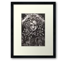 girl, invisible monsters Palahniuk, horror, face, dark, eyes Framed Print