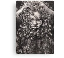 girl, invisible monsters Palahniuk, horror, face, dark, eyes Canvas Print