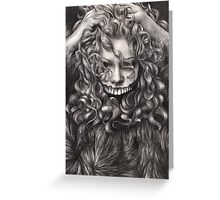 girl, invisible monsters Palahniuk, horror, face, dark, eyes Greeting Card