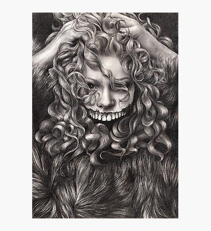 girl, invisible monsters Palahniuk, horror, face, dark, eyes Photographic Print