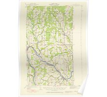 Maine USGS Historical Map Fort Fairfield 306566 1951 62500 Poster
