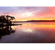 Sunset Green Point Australia Photographic Print