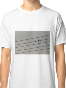 The birds on wire Classic T-Shirt