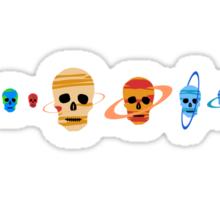 Skull Planets pattern Sticker
