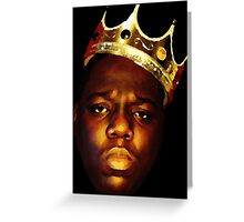 Biggie Smalls Oil Painting w/Crown Greeting Card