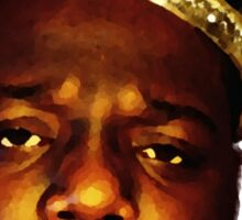 Biggie Smalls Oil Painting w/Crown Sticker