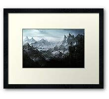 The Elder Scrolls V - Skyrim landscape Framed Print