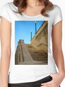 Staircase -Old San Juan  Women's Fitted Scoop T-Shirt