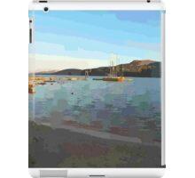 Sardinia: sea landscape with boats iPad Case/Skin