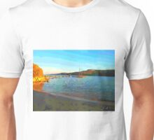 Sardinia: sea landscape with boats Unisex T-Shirt