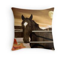 Beautiful Horse - Star Of The West Throw Pillow