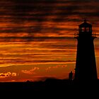 A Lover&#x27;s Sunset - Peggy&#x27;s Cove, NS by Darlene Ruhs