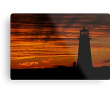 A Lover's Sunset - Peggy's Cove, NS Metal Print