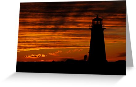 A Lover's Sunset - Peggy's Cove, NS by Darlene Ruhs