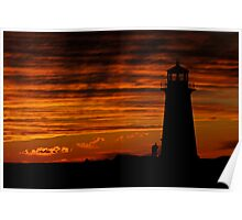 A Lover's Sunset - Peggy's Cove, NS Poster