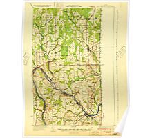 Maine USGS Historical Map Fort Fairfield 807492 1933 62500 Poster