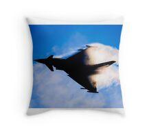 Typhoon Silhouette Throw Pillow