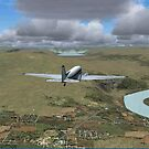 Flying up the valley by leca
