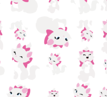 Marie, No Outline Pattern - The Aristocats Sticker