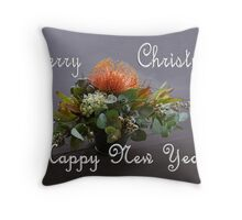 Merry Christmas, Happy New Year Throw Pillow