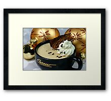 Christmas Mousse Framed Print