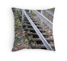 Steep Stairs Throw Pillow