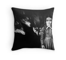 Emily and The Wolves Throw Pillow