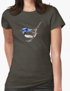 Little Wren in Natural Womens Fitted T-Shirt