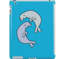 two dugongs on the waves iPad Case/Skin