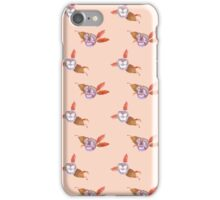 Pansy Dot in Peach iPhone Case/Skin